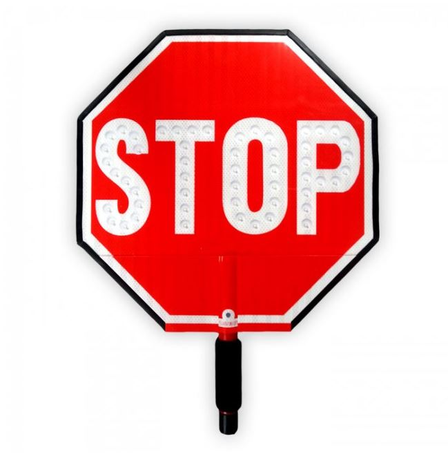 Led Stop Slow Paddle Sign Led Hand Held Signs For Sale