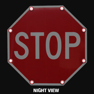 Solar Led Stop Sign Flashing Led Stop Sign