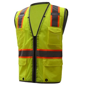 Class 2 Safety Vest W Contrasting Reflective Trim