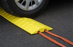 Plastic Speed Bump-Cable Guard - 6'L or 9'L