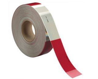Flexible Red/White Conspicuity HIP Grade Tape 2