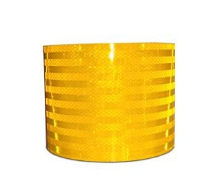 Reflective Fluorescent Yellow Conspicuity Diamond Grade Tape