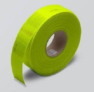 Reflective Fluorescent Lime Conspicuity Diamond Grade Tape