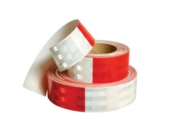 Reflective Red-White 6 Diamond Grade Tape