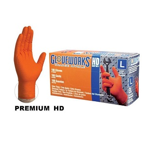 Gloveworks Orange Nitrile Gloves