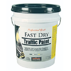 Fast Dry Latex Traffic Paint - White 5 Gal Pail