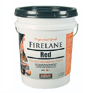 Firelane Red Traffic Paint 5 Gallon Pail