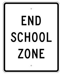 End School Zone Sign 24