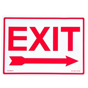 Fire Exit Signs : Emergency Exit Signs