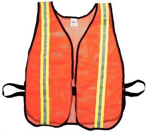 Orange Soft Mesh Safety Vest