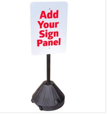Portable Pole 2TM Sidewalk Sign Holder