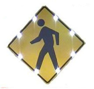 36 Quot Solar Powered Pedestrian Crossing Sign