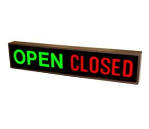 Open Closed Signs for Shops | Door Signs - Classic Metal Signs