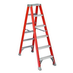 Fiberglass Twin Front Ladder