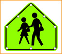 Solar LED School Zone Sign
