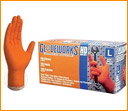 HD Orange Nitrile Gloves
