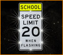 Solar Speed Limit Sign